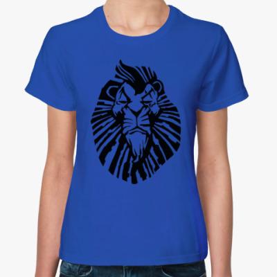 Женская футболка Важный лев