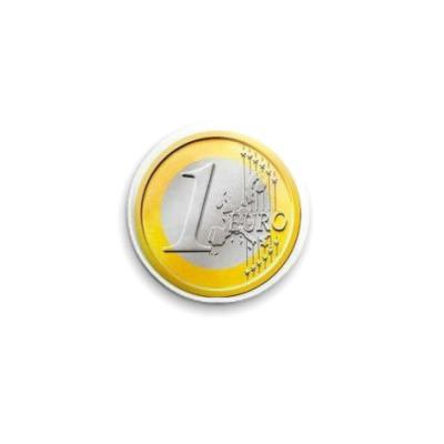 Значок 25мм  1 euro