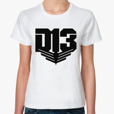 Классическая футболка Дистрикт 13 (Голодные Игры)