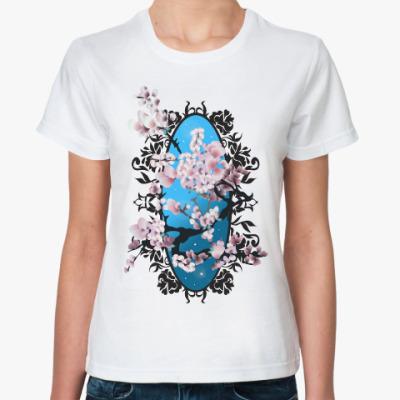 Классическая футболка Цветущая сакура