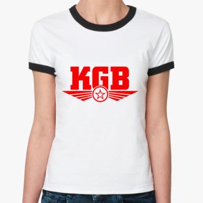 Женская футболка Ringer-T КГБ