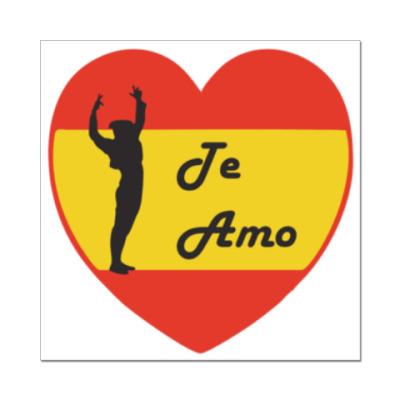 Наклейка (стикер) Я люблю тебя по-испански
