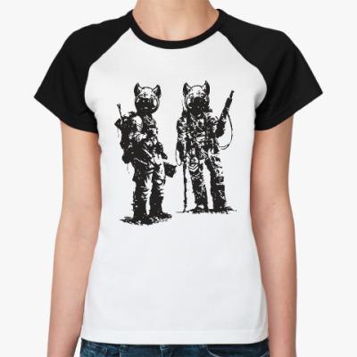 Женская футболка реглан War Pigs