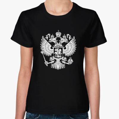 Женская футболка Герб России