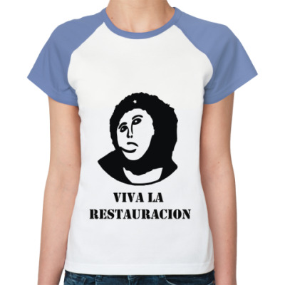 Женская футболка реглан  Viva la Restauration