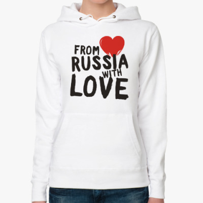 Женская толстовка худи from russia with love