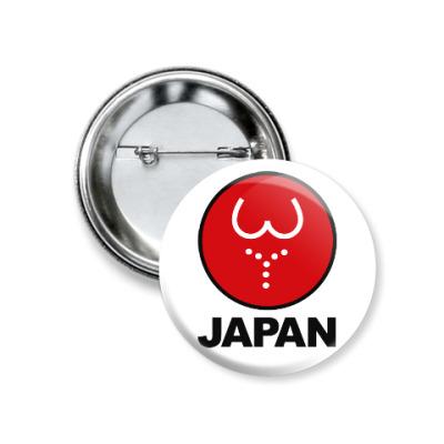 Значок 37мм Японская леди