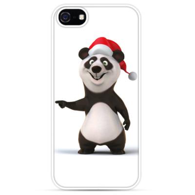 Чехол для iPhone Новогодний медведь