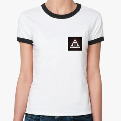 Женская футболка Ringer-T Дары смерти