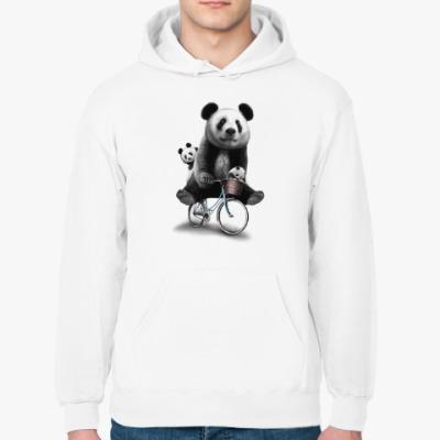 Толстовка худи Панды на велосипеде