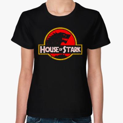 Женская футболка Дом Старков