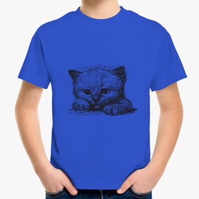 Детская футболка Кот. Кошка. Cat. Kitty.