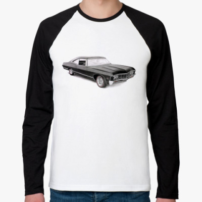 Футболка реглан с длинным рукавом Impala РМуж  (бел/чёрн)