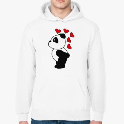 Толстовка худи Влюбленный панда