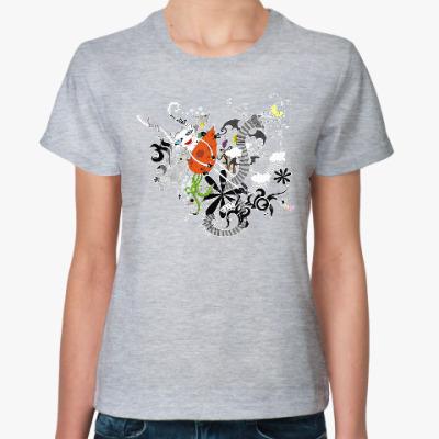 Женская футболка Белая Зайка