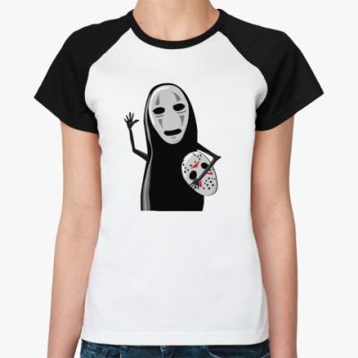 Женская футболка реглан безликий