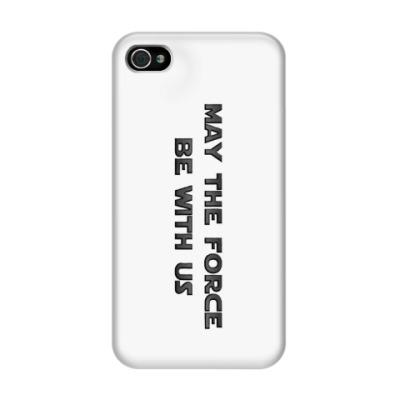Чехол для iPhone 4/4s Да пребудет с нами Сила!