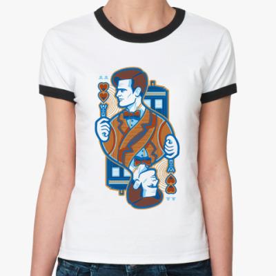 Женская футболка Ringer-T Одиннадцатый Доктор