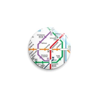 Значок 25мм  Венское метро