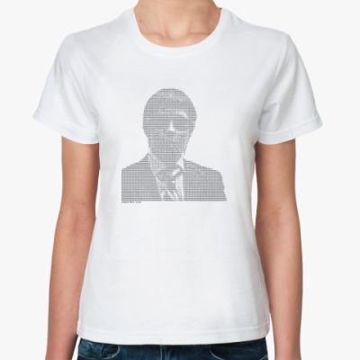 Классическая футболка Слишком многа букоф