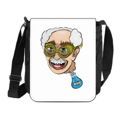 Сумка на плечо (мини-планшет) Чокнутый профессор
