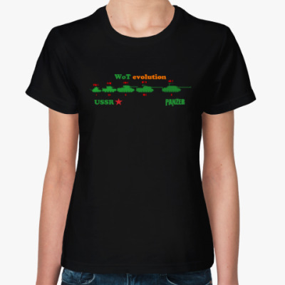 Женская футболка Эволюция танков СССР