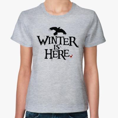 Женская футболка Игра престолов. Winter is here