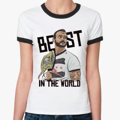 Женская футболка Ringer-T   CM Punk