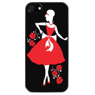 Чехол для iPhone силуэт девушки