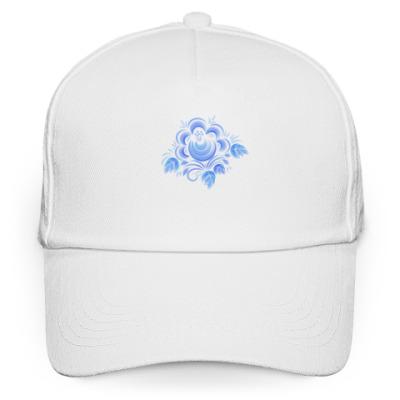Кепка бейсболка Цветок Гжель