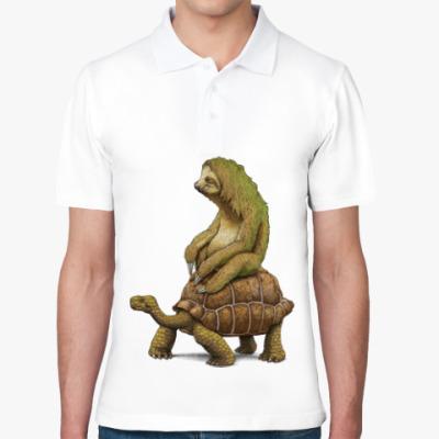 Рубашка поло Ленивец на черепахе