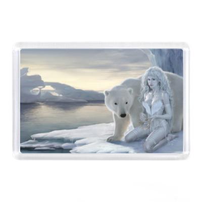 Магнит Медведь и девушка