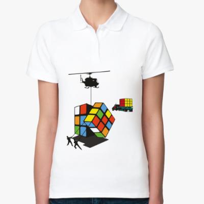 Женская рубашка поло Кубик Рубика | Rubiks Cube