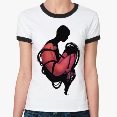 Женская футболка Ringer-T Режим ожидания