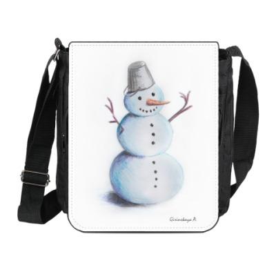 Сумка на плечо (мини-планшет) 'Снеговик'