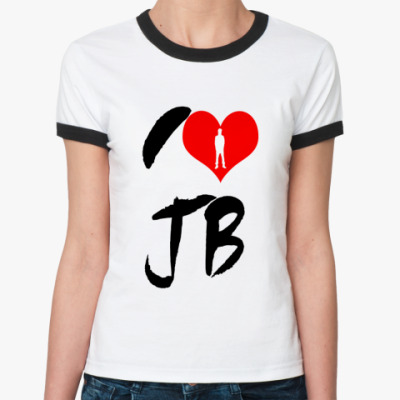 Женская футболка Ringer-T  love bieber