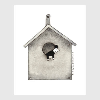 Постер Bird house