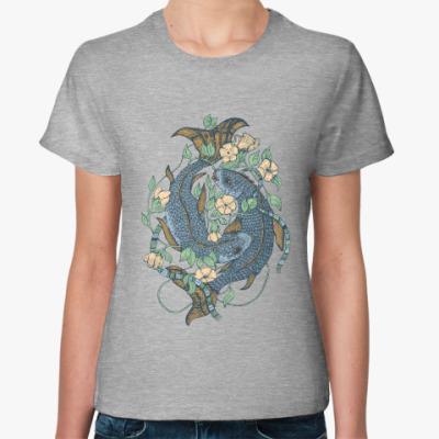 Женская футболка Carps Blue
