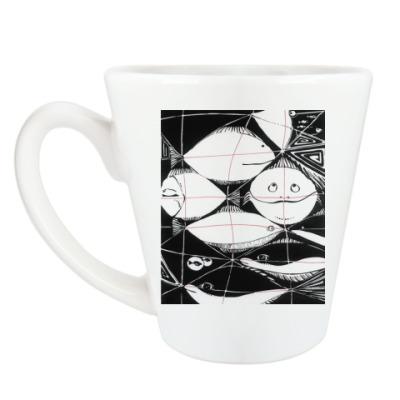 Чашка Латте 'Рыбы'