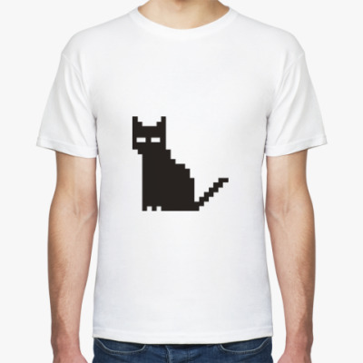 Футболка Пиксельный котик