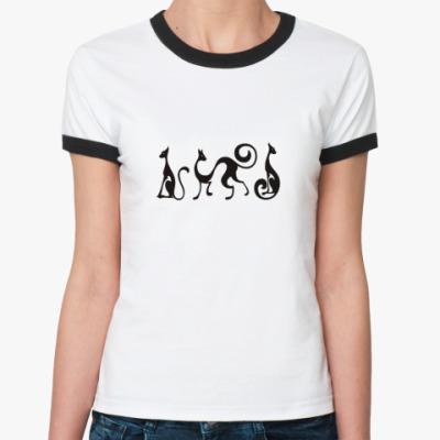 Женская футболка Ringer-T Египетские мотивы