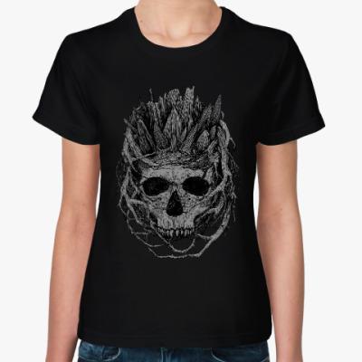 Женская футболка 'Череп в ветвях'