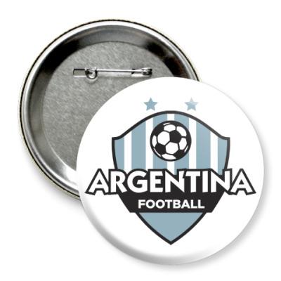 Значок 75мм Футбол Аргентины
