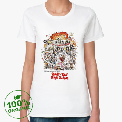 Женская футболка из органик-хлопка  органик Ramones RnRHS