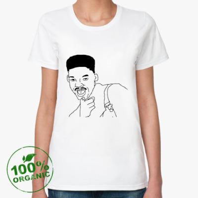 Женская футболка из органик-хлопка Уилл Смит