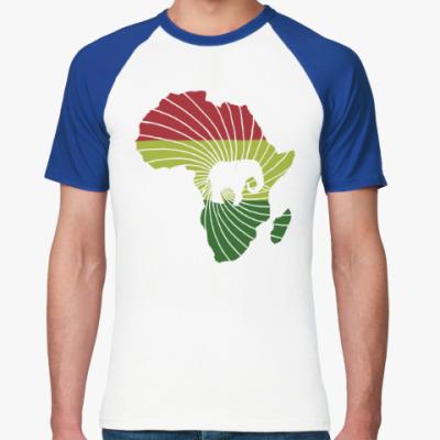 Футболка реглан Африканский слон