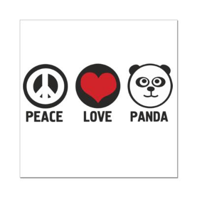 Наклейка (стикер)  panda