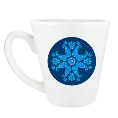 Чашка Латте Восточный цветок