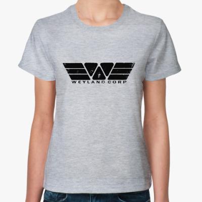 Женская футболка Чужой. Weyland-Yutani Corp