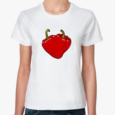 Классическая футболка Сердце перцы